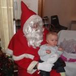 Notre arbre de Noël avec la visite du Père-Noël