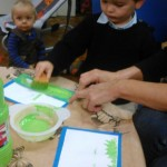 Activité peinture : petit cadre