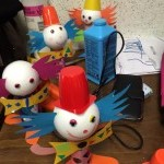 Terminer les clown + pâte à modeler